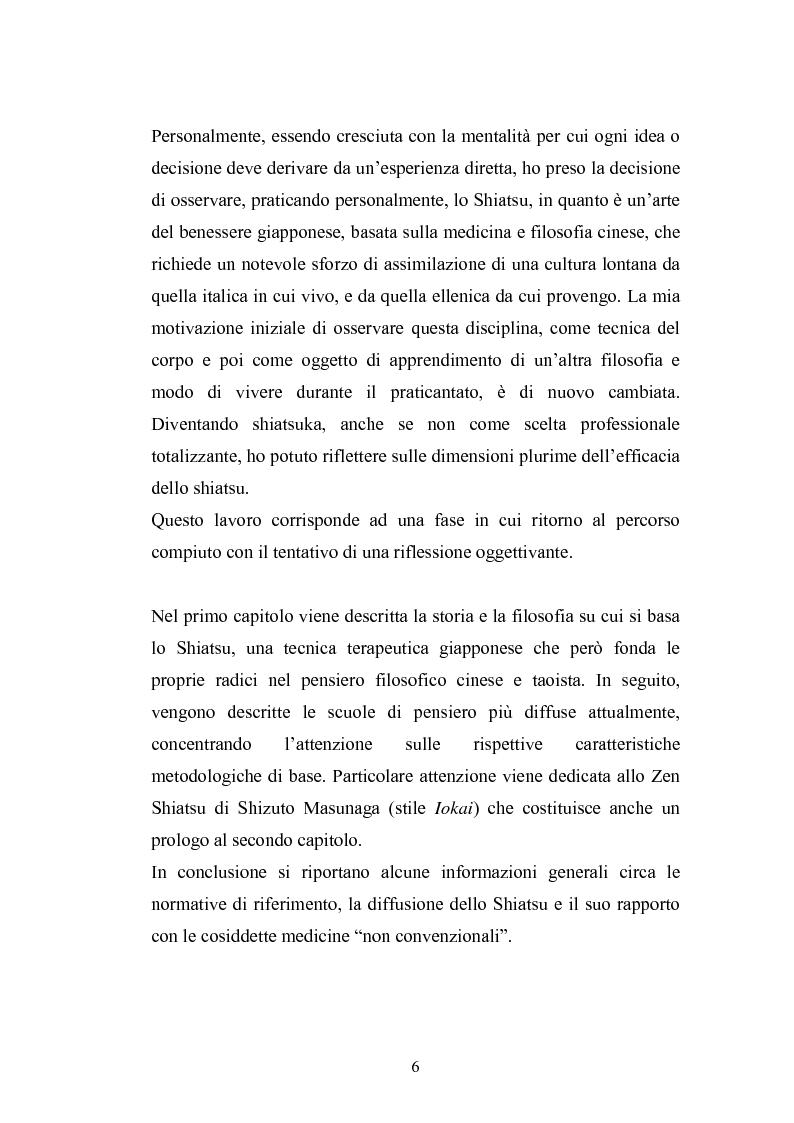 Anteprima della tesi: Concezioni della corporeità e del benessere psicofisico: esperienze di formazione di uno shiatsuka, Pagina 5