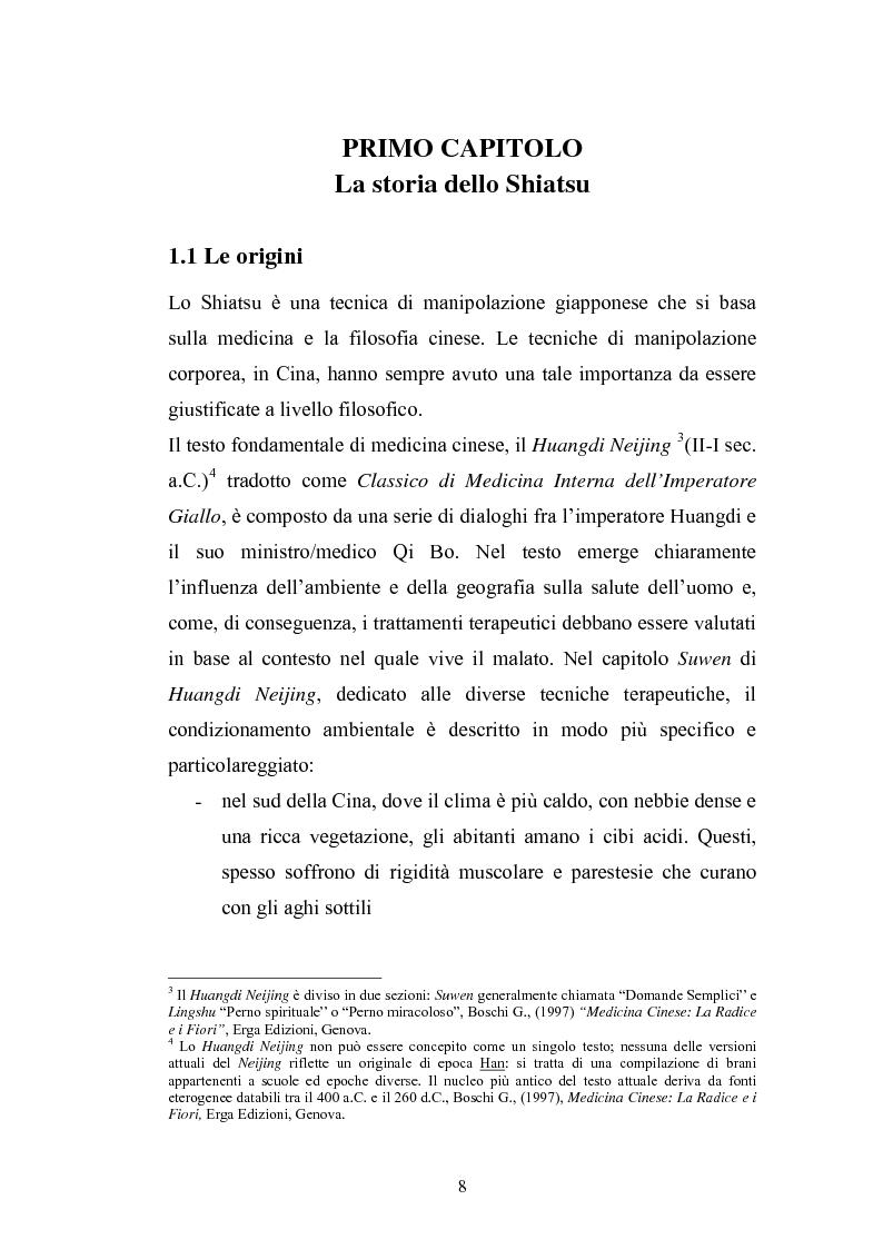 Anteprima della tesi: Concezioni della corporeità e del benessere psicofisico: esperienze di formazione di uno shiatsuka, Pagina 7