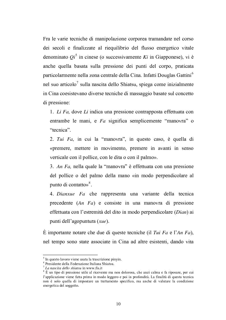Anteprima della tesi: Concezioni della corporeità e del benessere psicofisico: esperienze di formazione di uno shiatsuka, Pagina 9