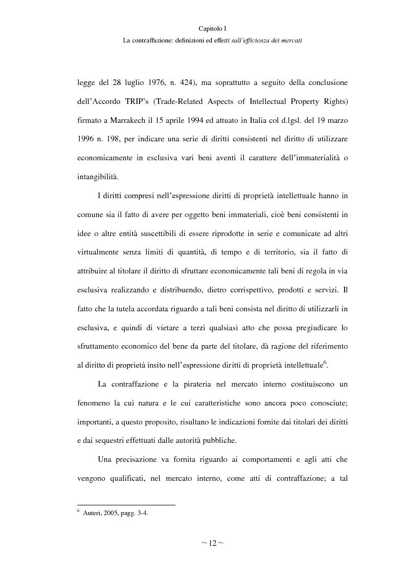 Anteprima della tesi: Gli effetti economici del reato di contraffazione, Pagina 11