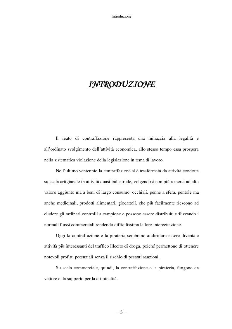 Anteprima della tesi: Gli effetti economici del reato di contraffazione, Pagina 2