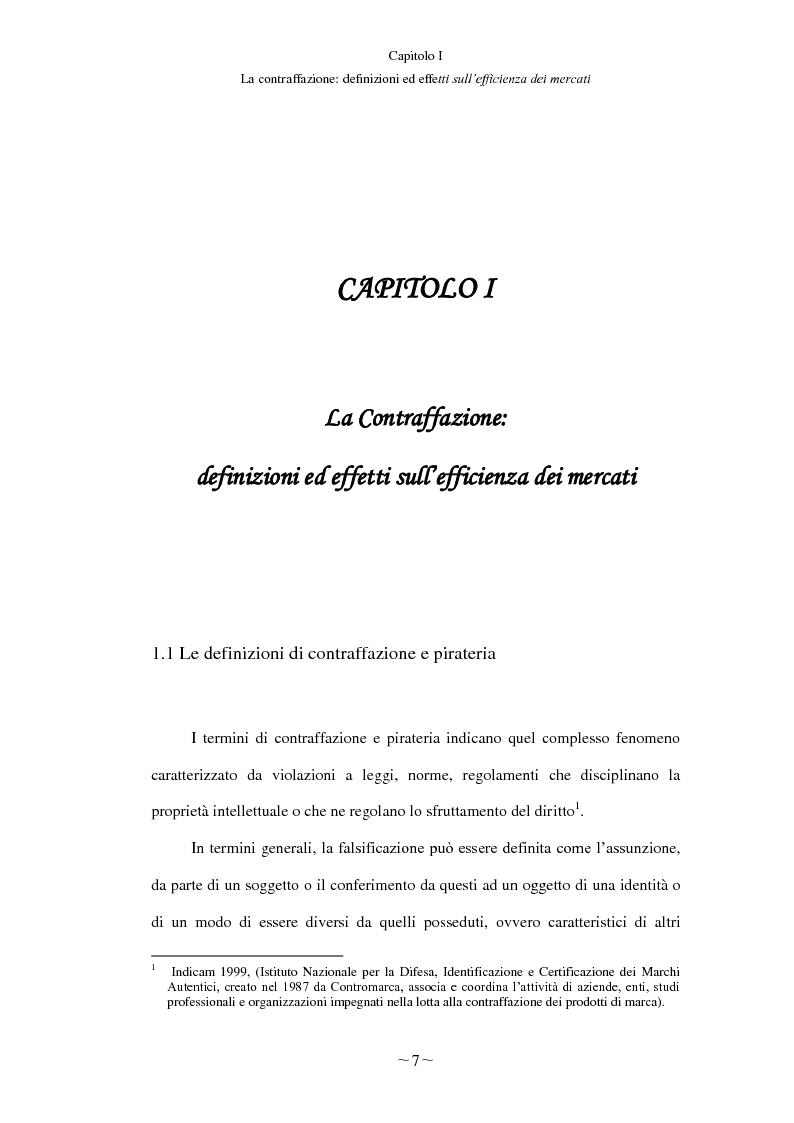 Anteprima della tesi: Gli effetti economici del reato di contraffazione, Pagina 6