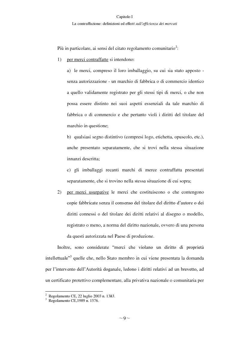 Anteprima della tesi: Gli effetti economici del reato di contraffazione, Pagina 8
