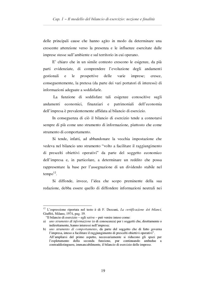Estratto dalla tesi: L'applicazione degli IAS/IFRS al bilancio di esercizio