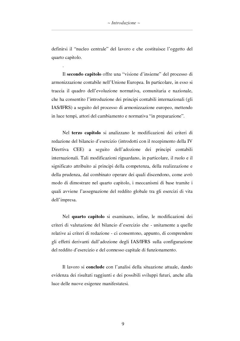 Anteprima della tesi: L'applicazione degli IAS/IFRS al bilancio di esercizio, Pagina 10