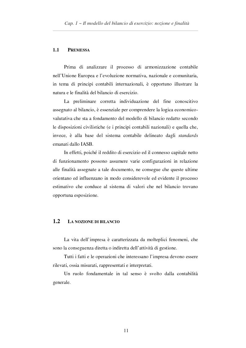 Anteprima della tesi: L'applicazione degli IAS/IFRS al bilancio di esercizio, Pagina 12