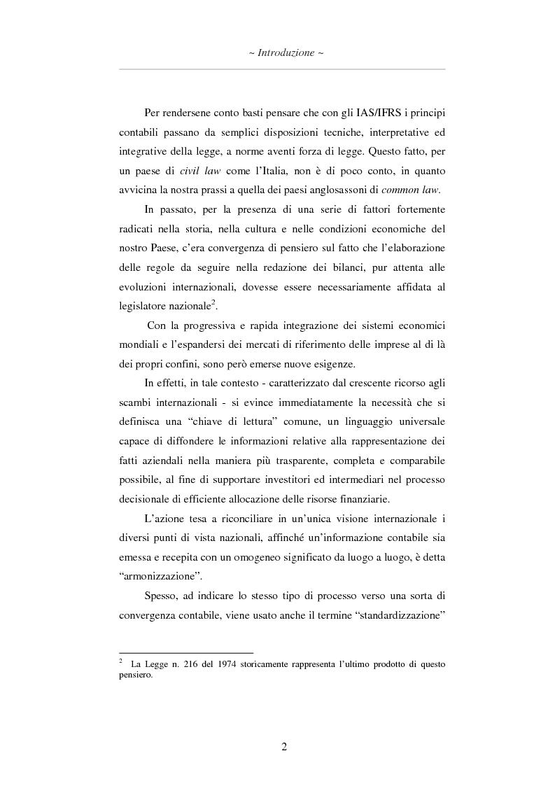 Anteprima della tesi: L'applicazione degli IAS/IFRS al bilancio di esercizio, Pagina 3