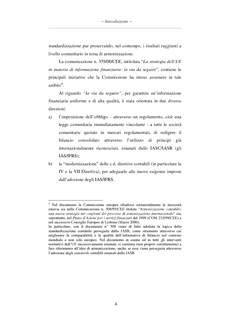 Anteprima della tesi: L'applicazione degli IAS/IFRS al bilancio di esercizio, Pagina 5