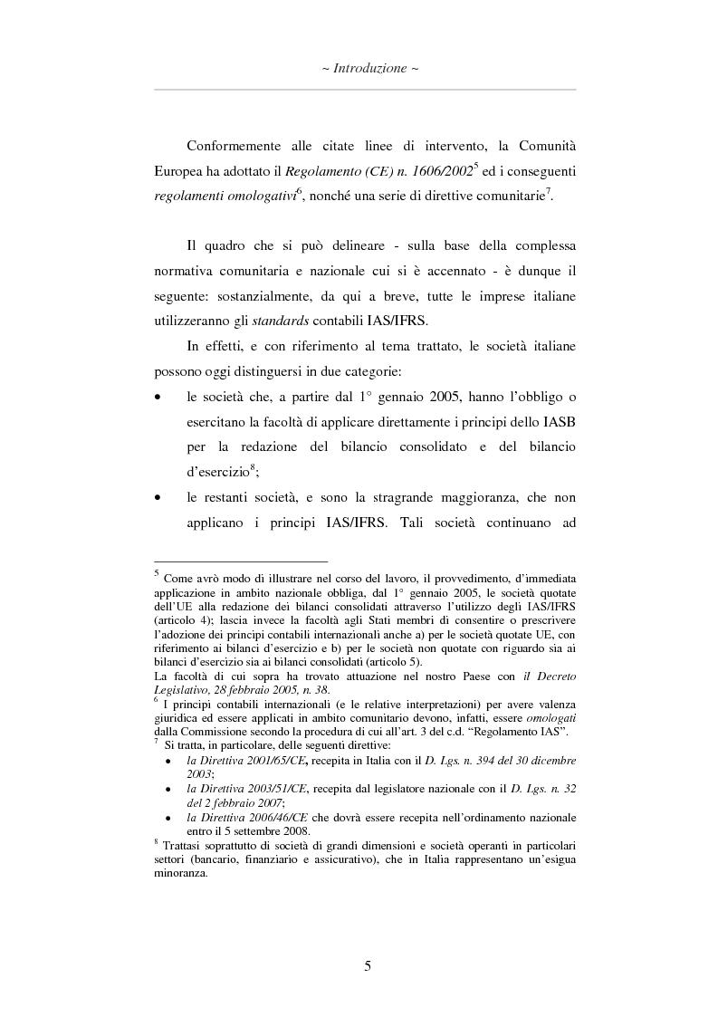 Anteprima della tesi: L'applicazione degli IAS/IFRS al bilancio di esercizio, Pagina 6
