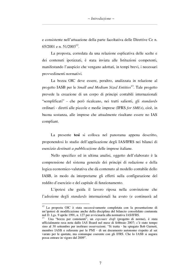 Anteprima della tesi: L'applicazione degli IAS/IFRS al bilancio di esercizio, Pagina 8