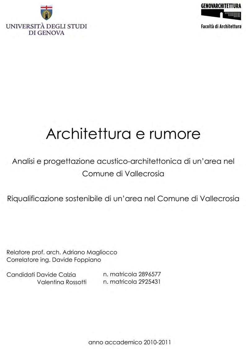 Anteprima della tesi: Architettura e rumore, Pagina 1