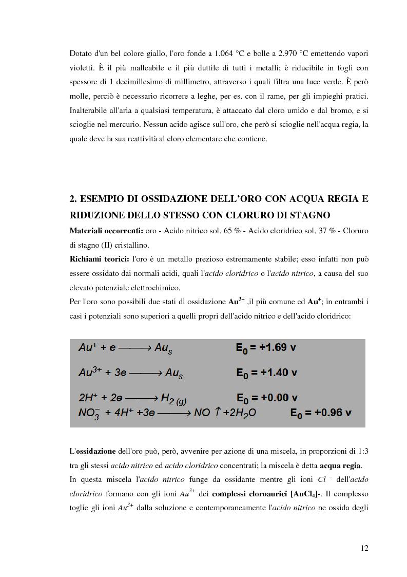 Anteprima della tesi: Processi idrometallurgici in scala di laboratorio per l'estrazione di oro da minerali (cnr roma), Pagina 13