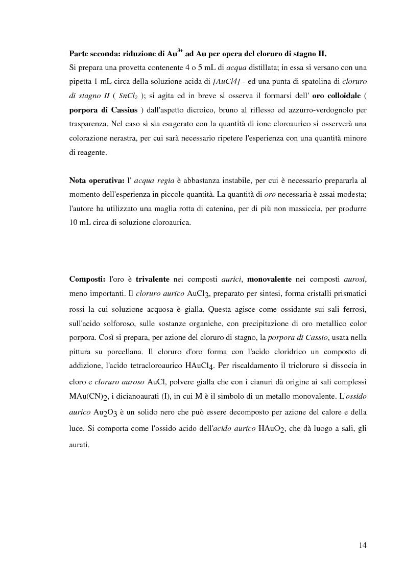Anteprima della tesi: Processi idrometallurgici in scala di laboratorio per l'estrazione di oro da minerali (cnr roma), Pagina 15