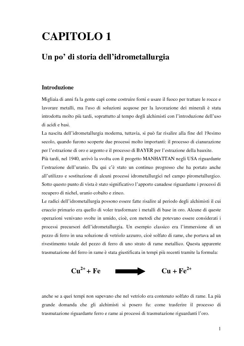 Anteprima della tesi: Processi idrometallurgici in scala di laboratorio per l'estrazione di oro da minerali (cnr roma), Pagina 2