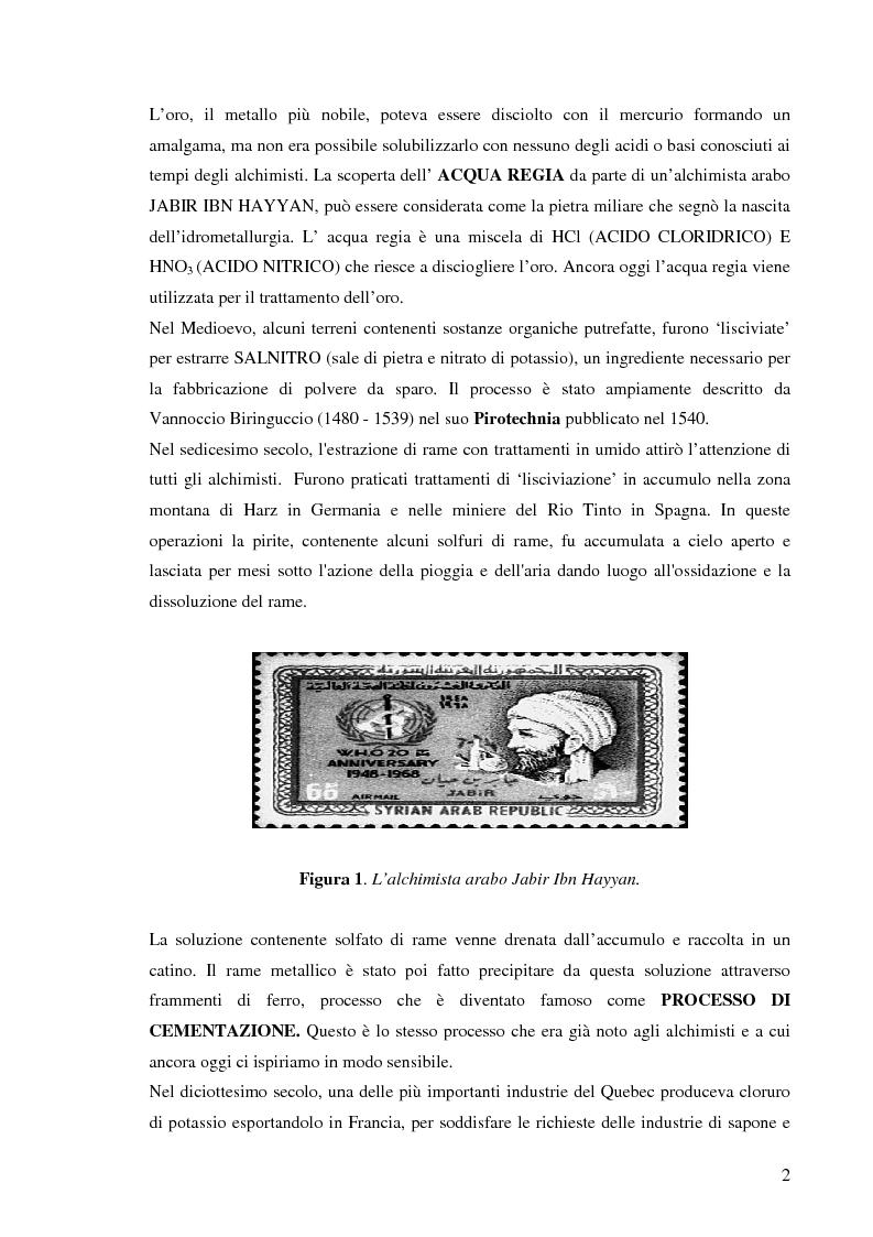 Anteprima della tesi: Processi idrometallurgici in scala di laboratorio per l'estrazione di oro da minerali (cnr roma), Pagina 3