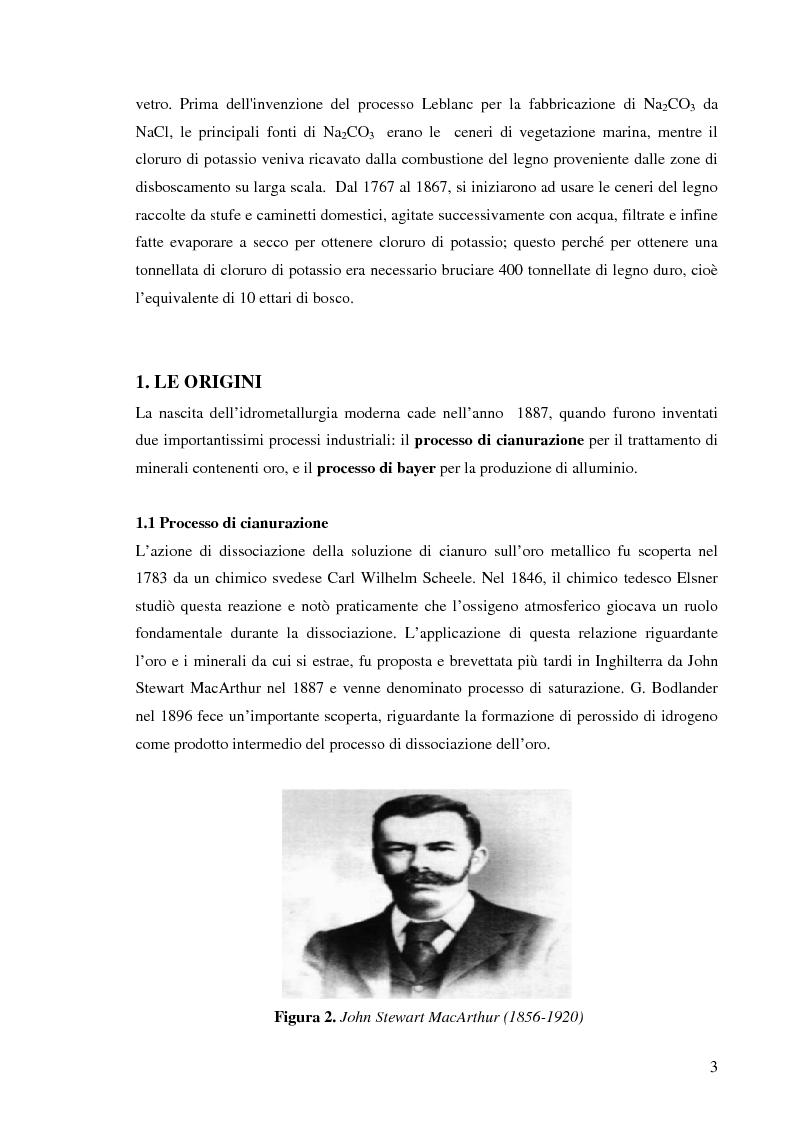 Anteprima della tesi: Processi idrometallurgici in scala di laboratorio per l'estrazione di oro da minerali (cnr roma), Pagina 4