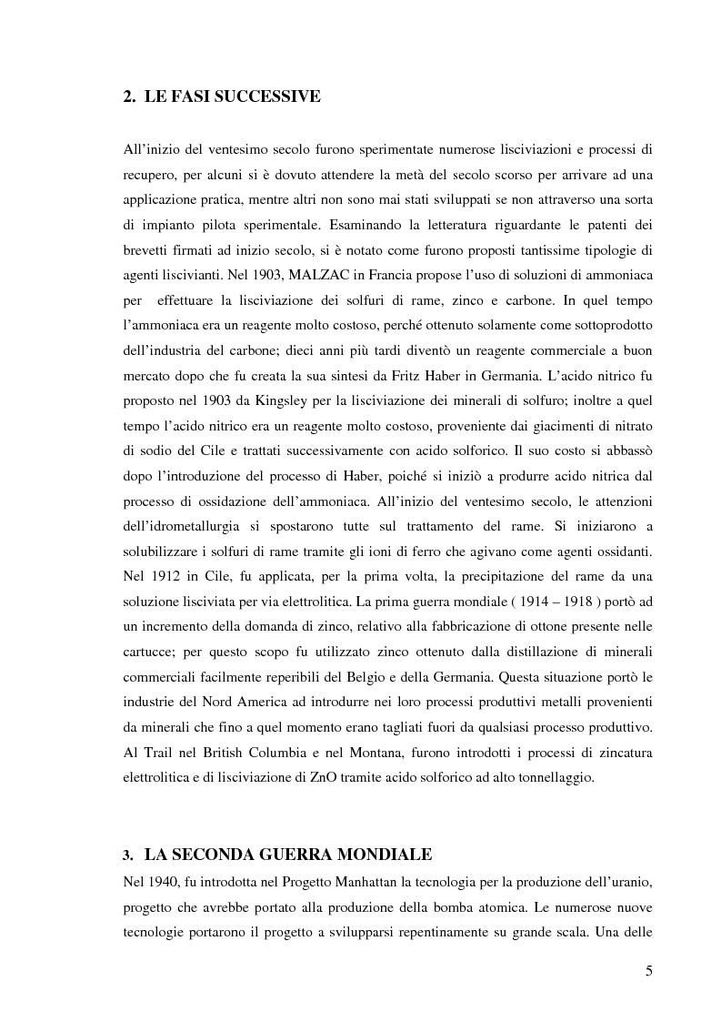 Anteprima della tesi: Processi idrometallurgici in scala di laboratorio per l'estrazione di oro da minerali (cnr roma), Pagina 6