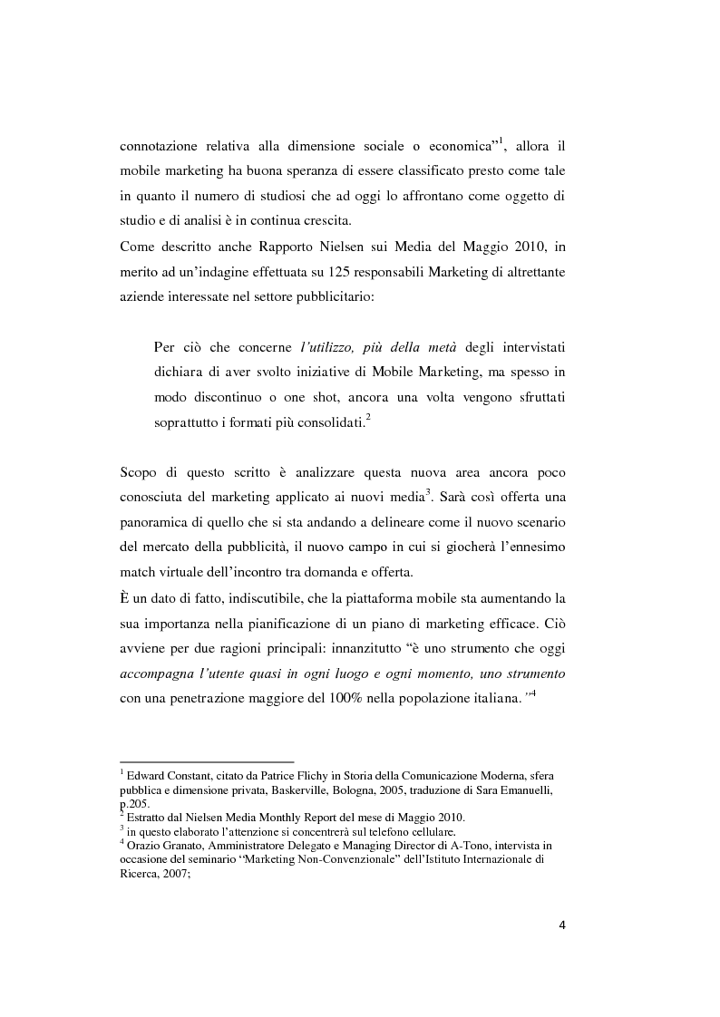 Anteprima della tesi: Mobile marketing. Passato, presente e futuro del nuovo marketing one to one, Pagina 3