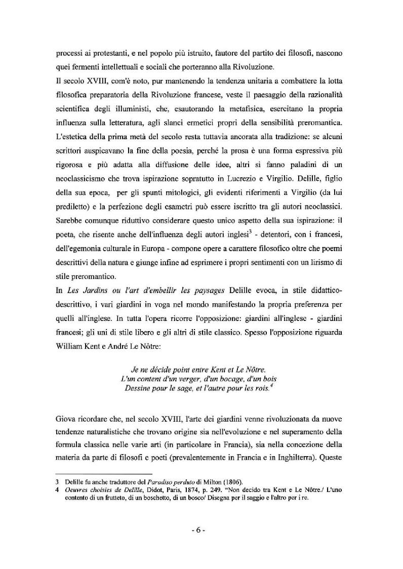 Anteprima della tesi: Sady: Les Jardins di Jacques Delille nella traduzione di Aleksandr Fedorovic Voejkov, Pagina 4