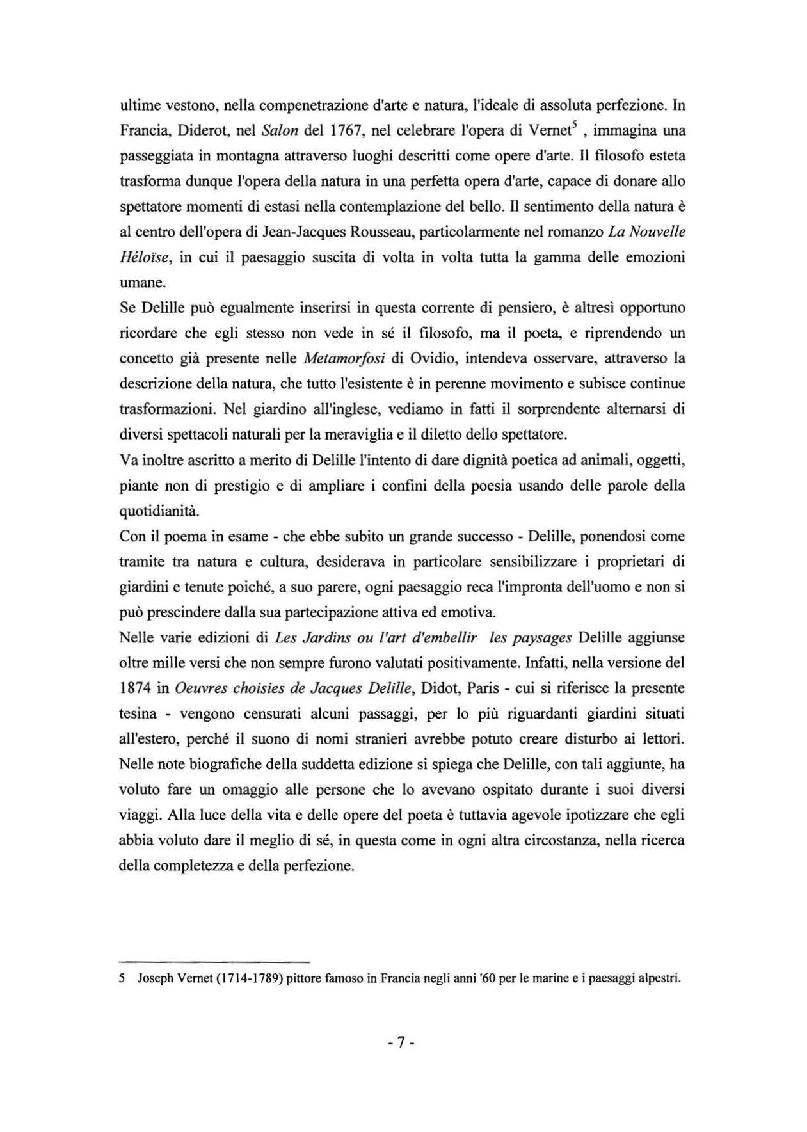 Anteprima della tesi: Sady: Les Jardins di Jacques Delille nella traduzione di Aleksandr Fedorovic Voejkov, Pagina 5