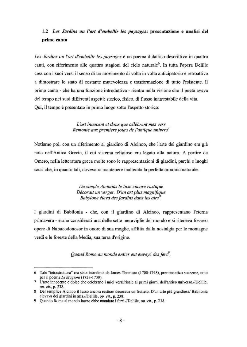 Anteprima della tesi: Sady: Les Jardins di Jacques Delille nella traduzione di Aleksandr Fedorovic Voejkov, Pagina 6