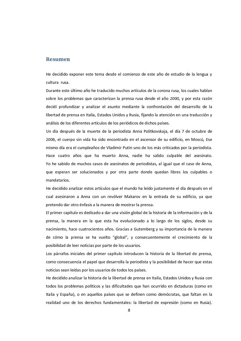 Anteprima della tesi: La libertà di stampa. Il caso di Anna Politkovskaja, Pagina 6
