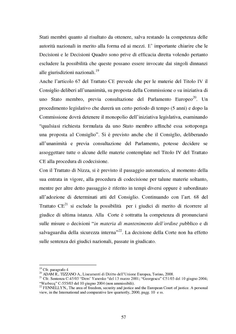 Anteprima della tesi: La Cooperazione di Polizia e Giudiziaria in materia penale - genesi, evoluzione e prospettive nell'Unione Europea, Pagina 10