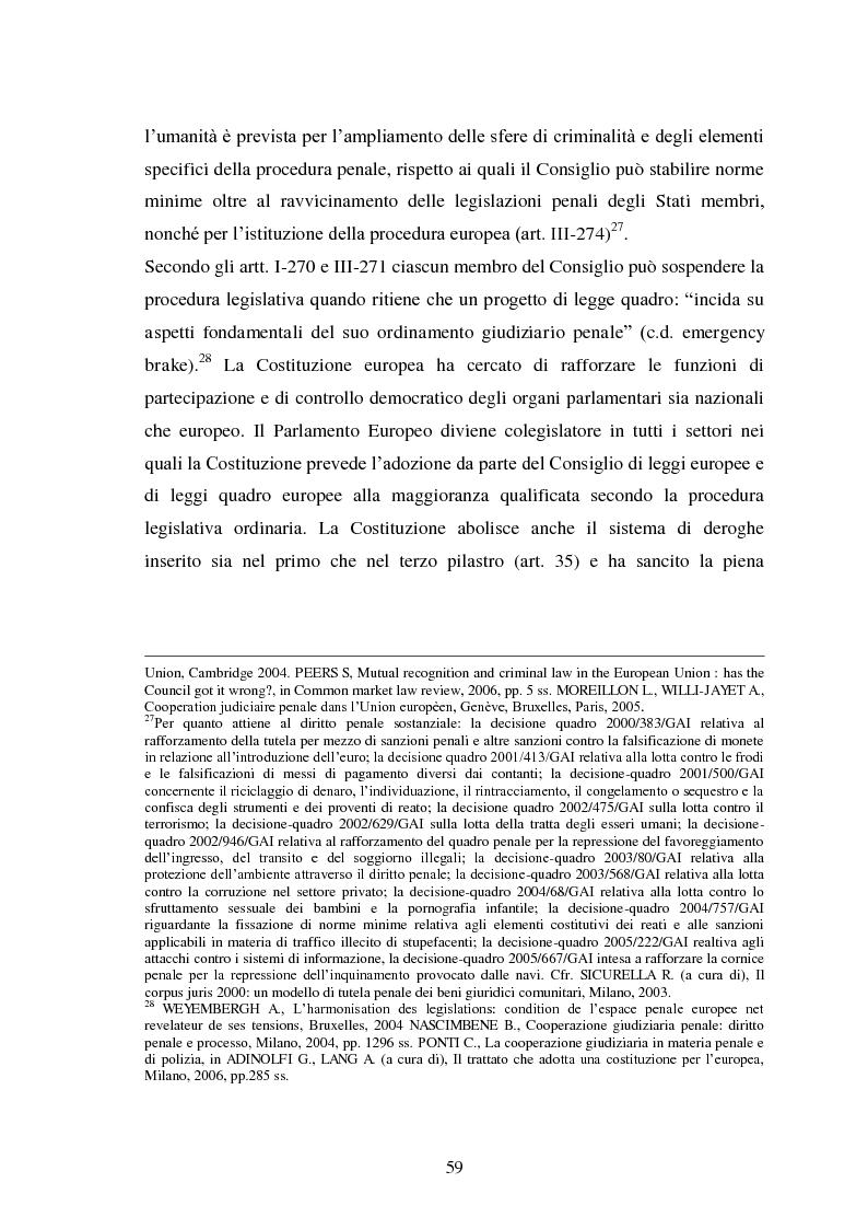 Anteprima della tesi: La Cooperazione di Polizia e Giudiziaria in materia penale - genesi, evoluzione e prospettive nell'Unione Europea, Pagina 12