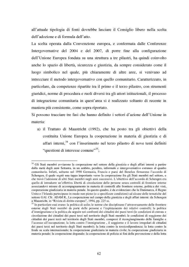 Anteprima della tesi: La Cooperazione di Polizia e Giudiziaria in materia penale - genesi, evoluzione e prospettive nell'Unione Europea, Pagina 15