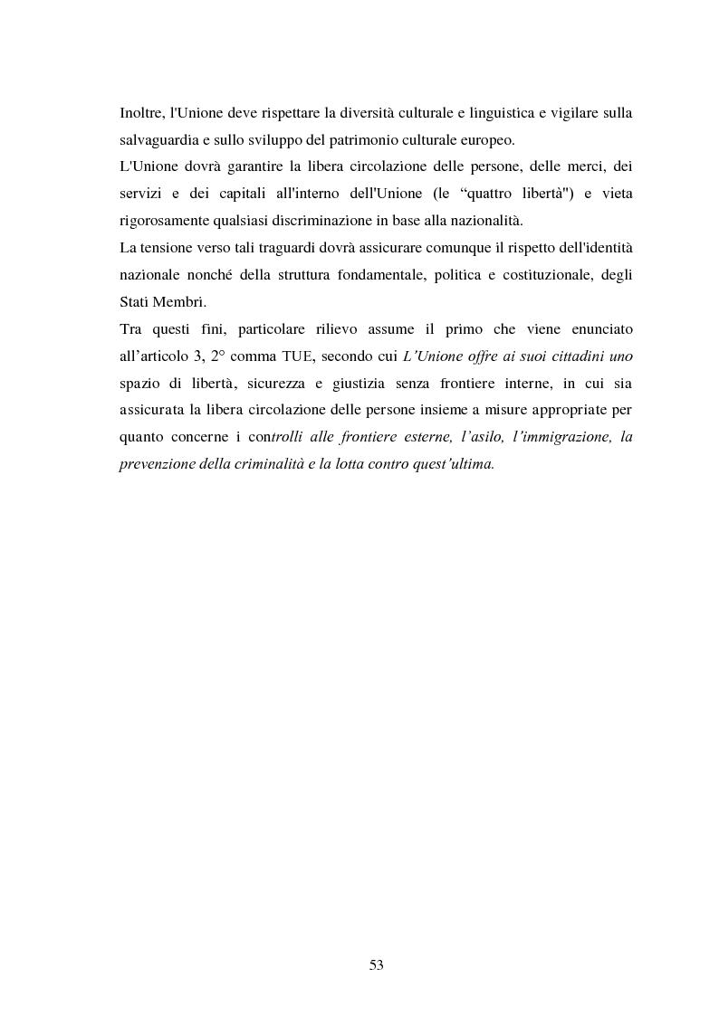 Anteprima della tesi: La Cooperazione di Polizia e Giudiziaria in materia penale - genesi, evoluzione e prospettive nell'Unione Europea, Pagina 6