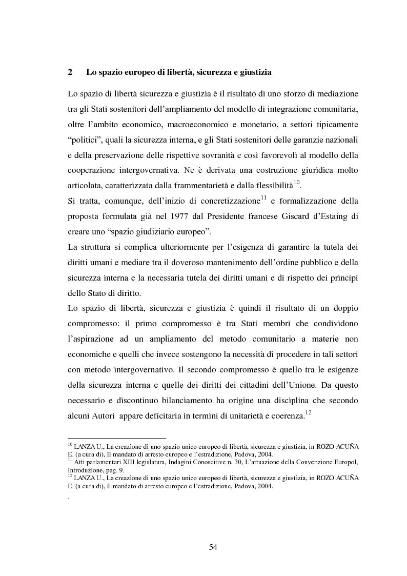 Anteprima della tesi: La Cooperazione di Polizia e Giudiziaria in materia penale - genesi, evoluzione e prospettive nell'Unione Europea, Pagina 7