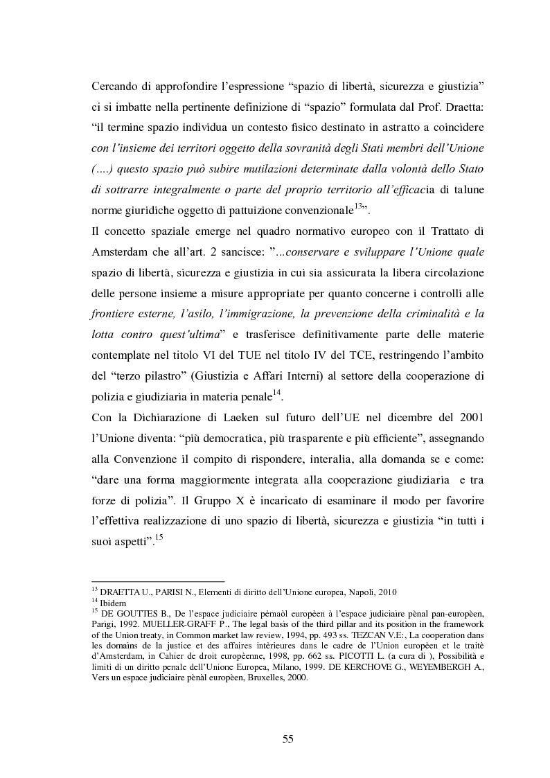 Anteprima della tesi: La Cooperazione di Polizia e Giudiziaria in materia penale - genesi, evoluzione e prospettive nell'Unione Europea, Pagina 8