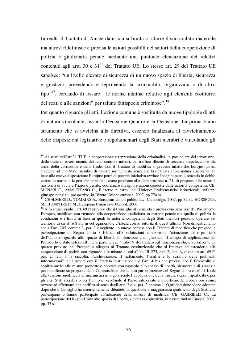 Anteprima della tesi: La Cooperazione di Polizia e Giudiziaria in materia penale - genesi, evoluzione e prospettive nell'Unione Europea, Pagina 9