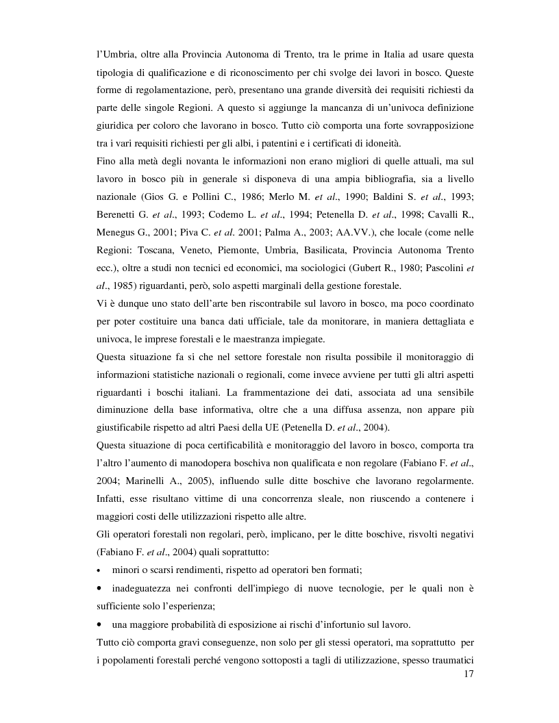 Anteprima della tesi: Confronto fra diverse tipologie di abbattimento ed esbosco in tre regioni italiane, Pagina 10