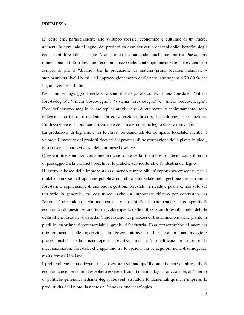 Anteprima della tesi: Confronto fra diverse tipologie di abbattimento ed esbosco in tre regioni italiane, Pagina 2