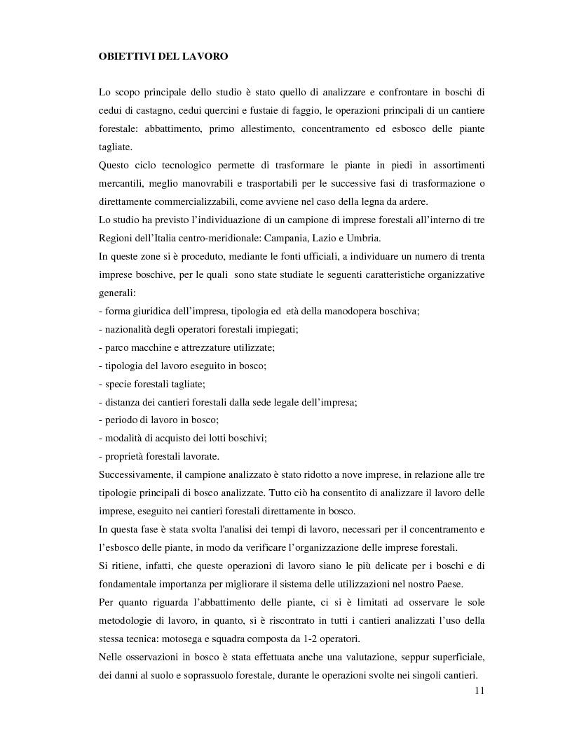 Anteprima della tesi: Confronto fra diverse tipologie di abbattimento ed esbosco in tre regioni italiane, Pagina 4
