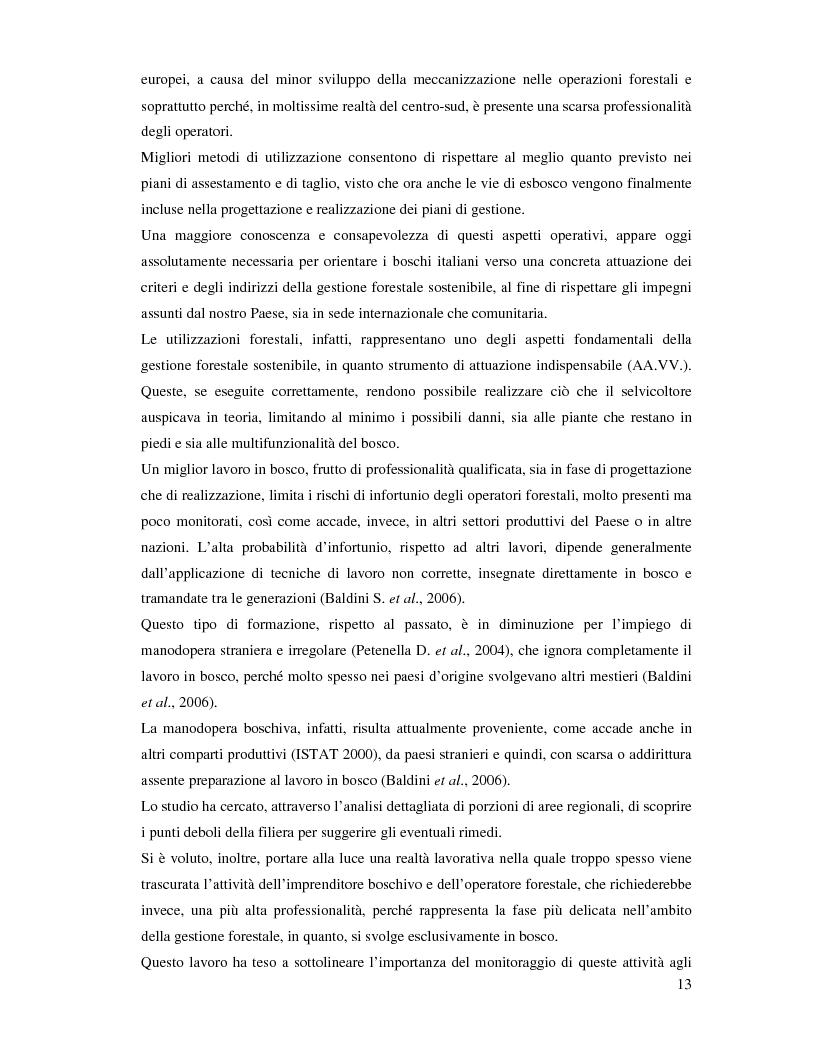 Anteprima della tesi: Confronto fra diverse tipologie di abbattimento ed esbosco in tre regioni italiane, Pagina 6
