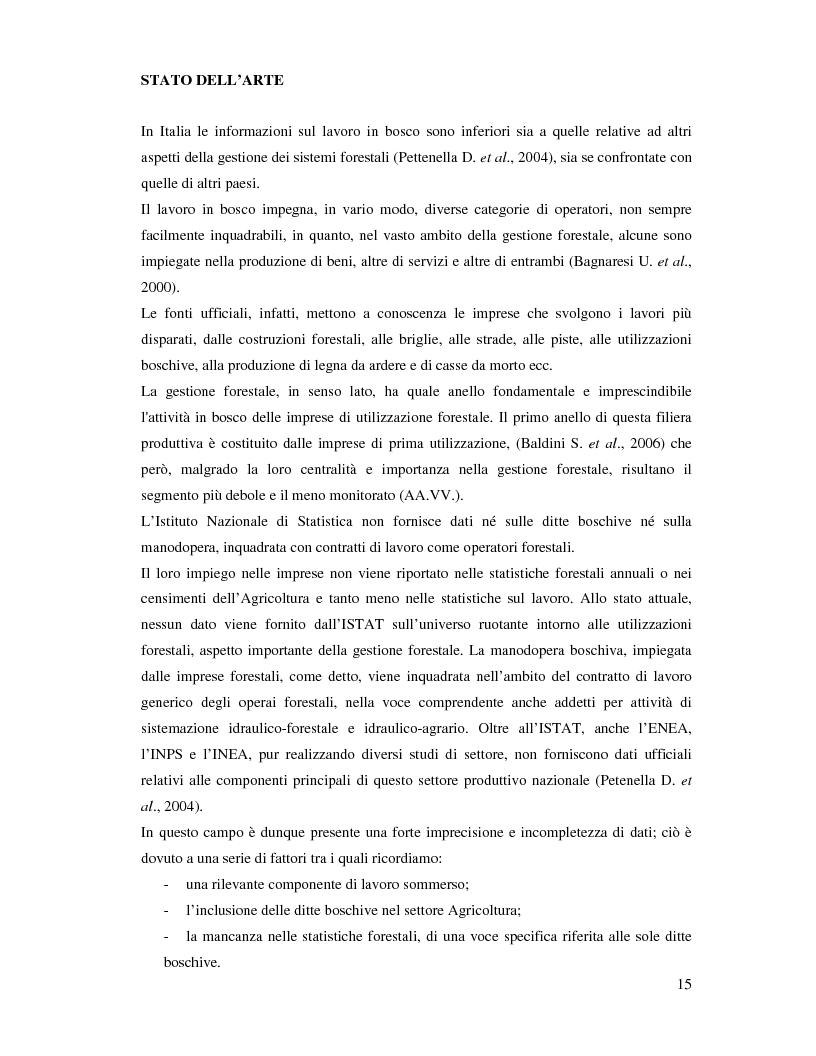 Anteprima della tesi: Confronto fra diverse tipologie di abbattimento ed esbosco in tre regioni italiane, Pagina 8