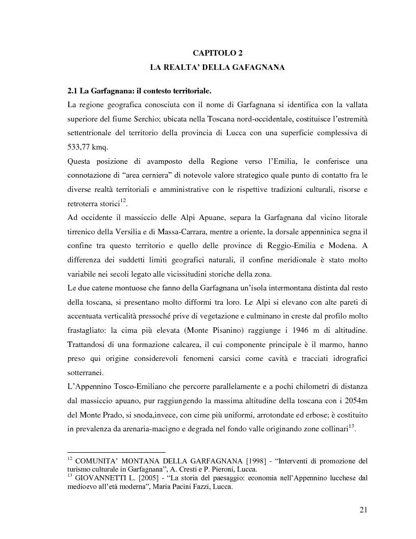 Anteprima della tesi: Il turismo rurale e la valorizzazione delle risorse caratteristiche del territorio: il caso della Garfagnana, Pagina 2
