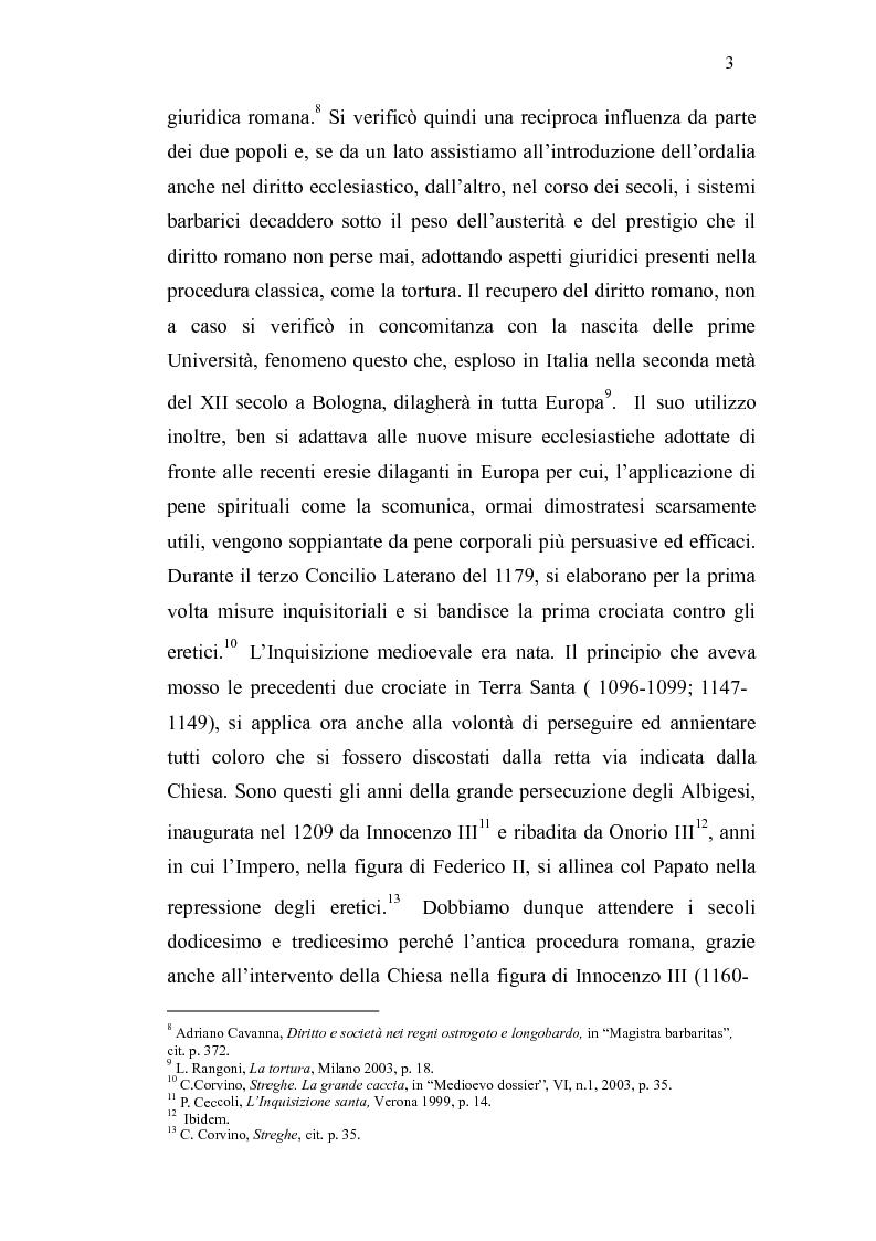 Anteprima della tesi: Ordalie, torture e supplizi capitali: il corpo sotto accusa nell'Europa medievale, Pagina 4