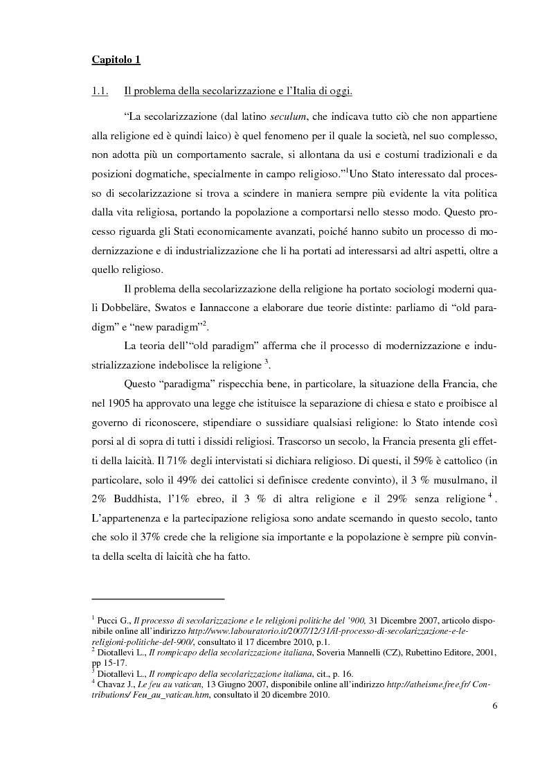Anteprima della tesi: I giovani e la religione, tra coerenza e contraddizione. Un'indagine tra gli studenti del corso di mediazione dell'Università dell'Insubria., Pagina 4
