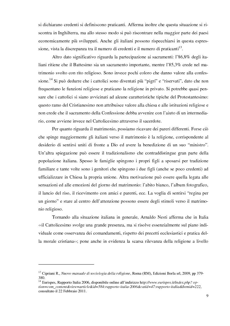 Anteprima della tesi: I giovani e la religione, tra coerenza e contraddizione. Un'indagine tra gli studenti del corso di mediazione dell'Università dell'Insubria., Pagina 7