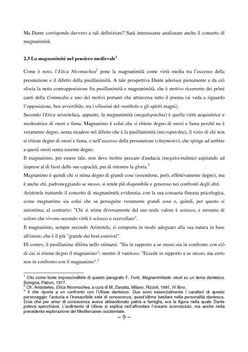 Anteprima della tesi: La superbia in Dante: intimo conflitto tra desiderio di gloria e consapevolezza della sua vanità, Pagina 10