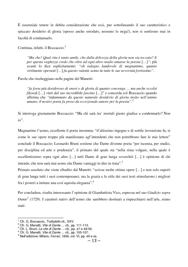 Anteprima della tesi: La superbia in Dante: intimo conflitto tra desiderio di gloria e consapevolezza della sua vanità, Pagina 14