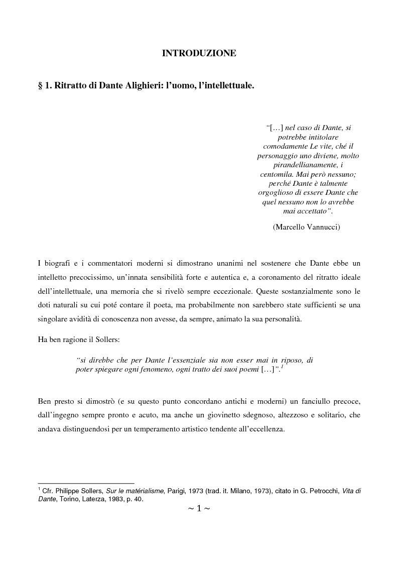Anteprima della tesi: La superbia in Dante: intimo conflitto tra desiderio di gloria e consapevolezza della sua vanità, Pagina 2