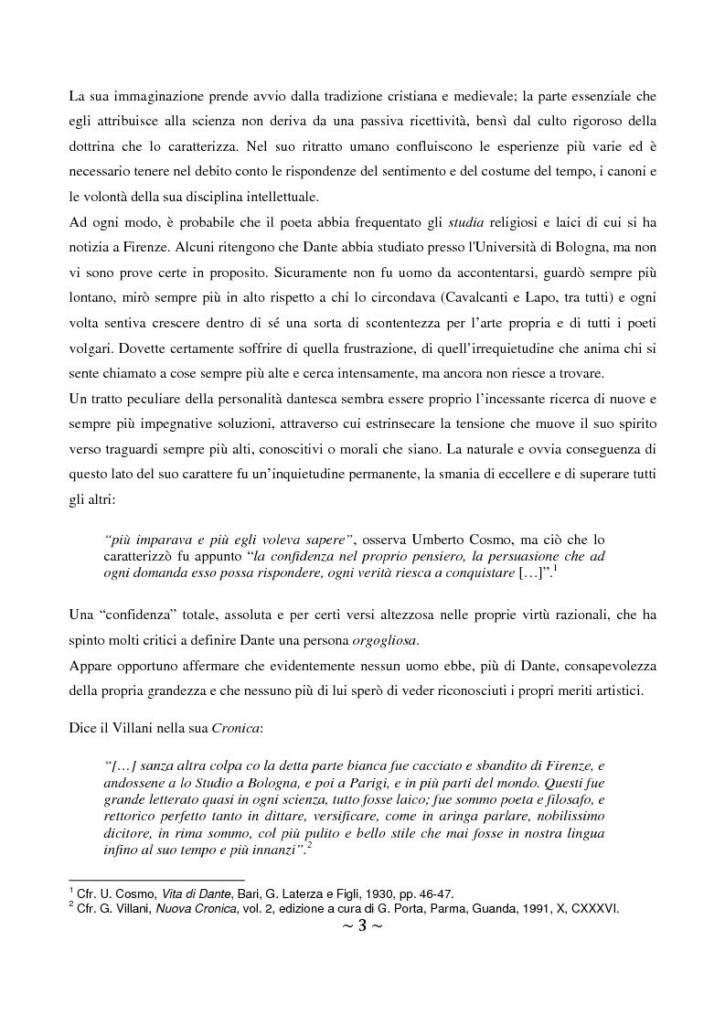 Anteprima della tesi: La superbia in Dante: intimo conflitto tra desiderio di gloria e consapevolezza della sua vanità, Pagina 4