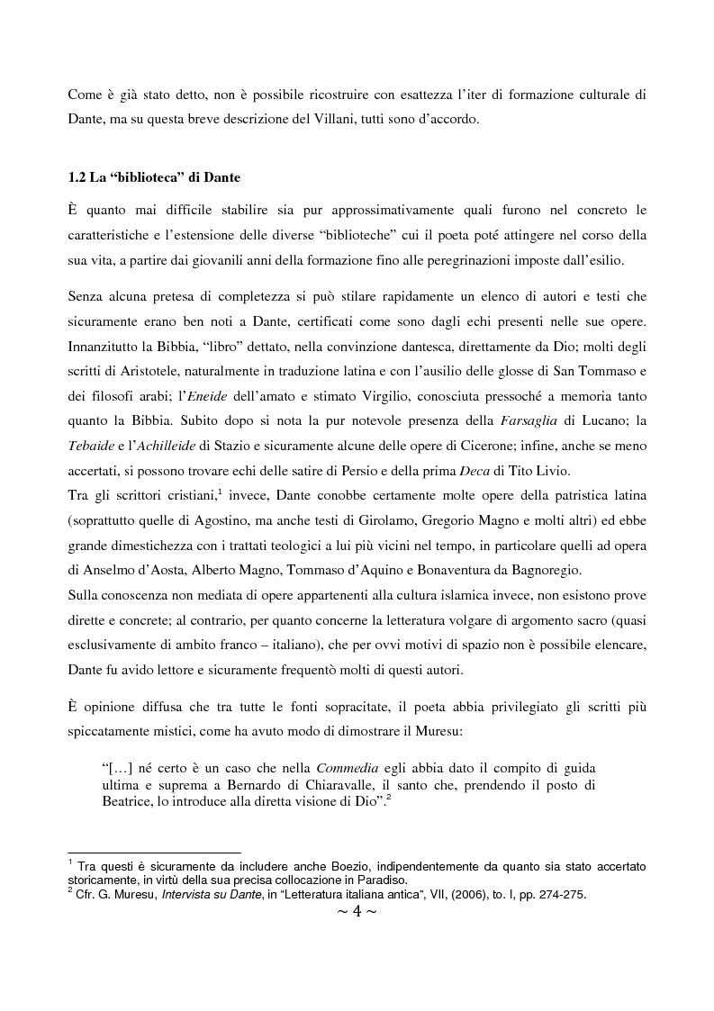 Anteprima della tesi: La superbia in Dante: intimo conflitto tra desiderio di gloria e consapevolezza della sua vanità, Pagina 5