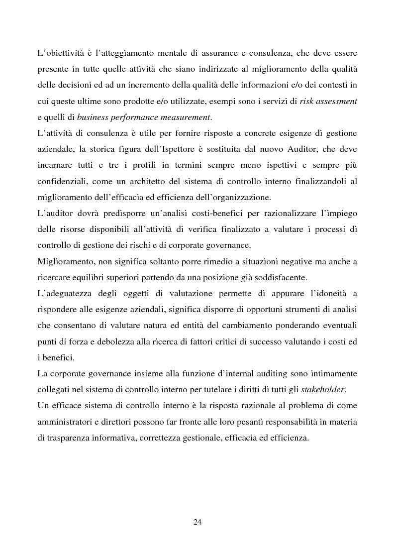 Anteprima della tesi: La funzione dell'Internal Auditing nell'Agenzia del Territorio, Pagina 6