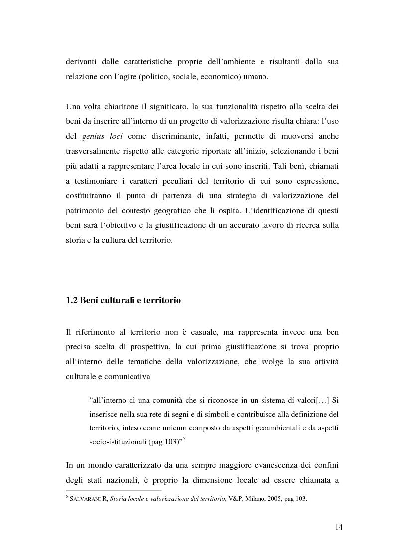 Anteprima della tesi: Il marketing dei beni culturali tra territorio e nuove tecnologie, Pagina 10