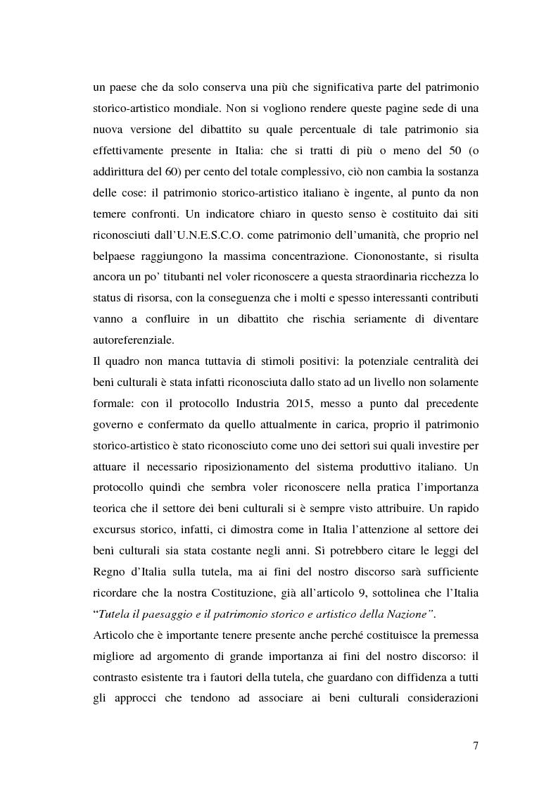 Anteprima della tesi: Il marketing dei beni culturali tra territorio e nuove tecnologie, Pagina 3